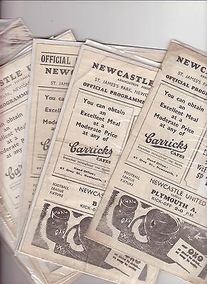 Newcastle V Bradford Pa 1946/47 22Nd Feb P/p