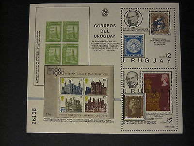 Uruguay - 1979 Rowland Hill miniature sheet - MNH