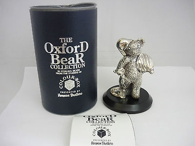 "Superb Large Vintage Sterling Silver ""Go To Bed"" Teddy Bear Sculpture Statue"