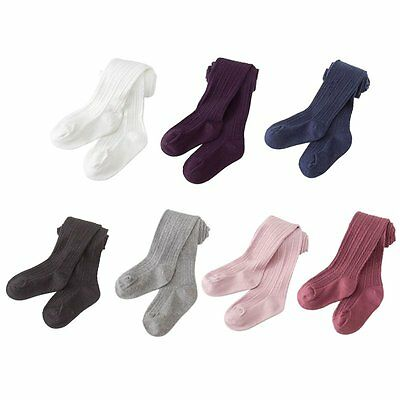 AU Newborn Toddler Baby Kids Girls Soft Cotton Tights Stockings Pantyhose 0-8Y