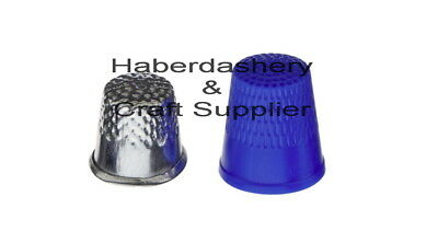 Thimbles Large 2 Pack Blue Plastic And Metal