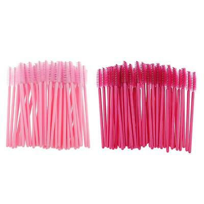 Disposable Eyelash Mascara Wands Applicators Eye Lash Makeup Brushes -Lot 50 100