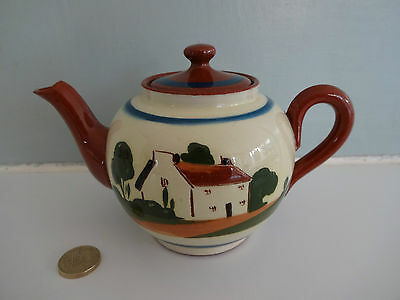"""Vintage Motto Ware Watcombe Pottery-Tea Pot """"dont worry it may never happen"""""""