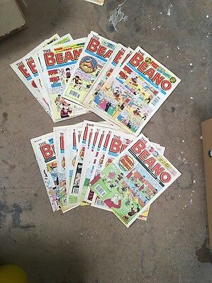 Vintage Bunch X5  Beano Comics Various Years from 1991-2000 (Bulk are Mid 1990s)