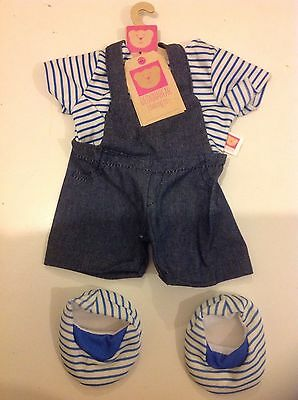 New Design A Bear Dungaree Outfit Set Of Clothes For Chad Valley Designabear.