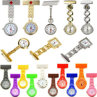 Stainless Steel Quartz Fob Watch Brand New Nurse Time Piece Watches Silver Gold