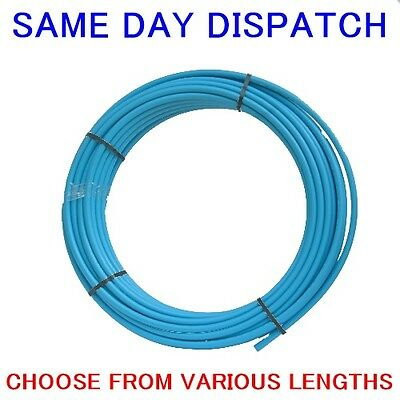 MDPE Blue Water Pipe 20mm, 25mm & 32mm Choice Of Sizes & Length Supplied Coiled