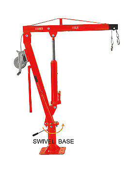 Cherry Picker Truck Type with Winch Crane Hoist 2000lb(905KG) Lift Pick Up Truck