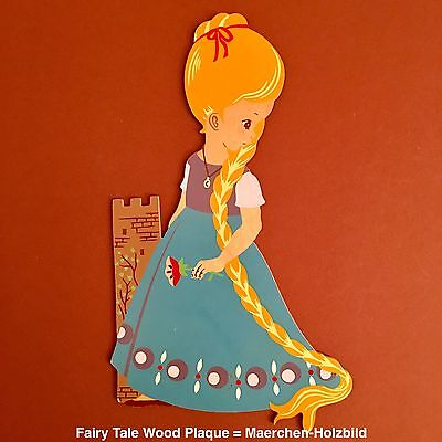 💙 German Vintage 170: MERTENS-KUNST Fairy Tale Wood Plaque - Maerchen-Holzbild