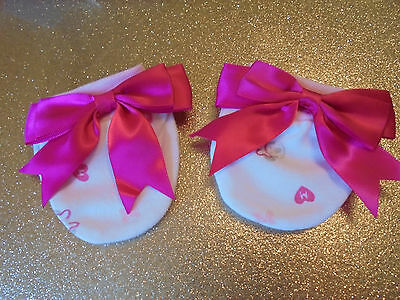 Romany Baby Girl Pink  Satin Bow Disney Minnie Mouse Scratch Mittens  0 - 3 Mth