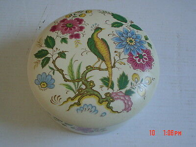 Purbeck Pottery Decorative Bird Of Paradise Trinket Lidded Dish