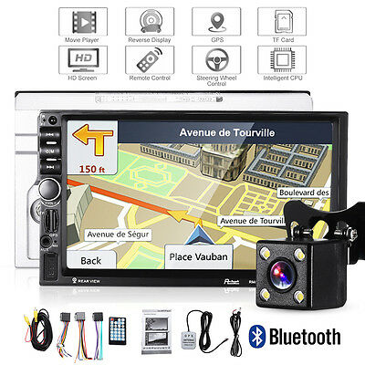 "7021G 7"" Double 2Din Bluetooth In Dash Car MP5 Player GPS NAV Radio Map + Camera"