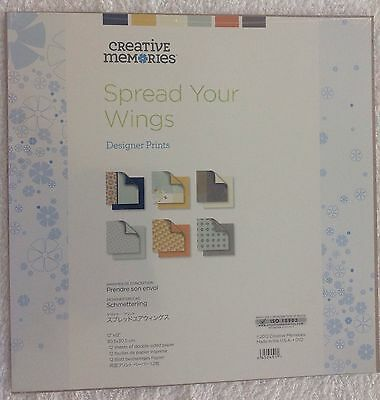 Creative Memories Spread Your Wings 12x12 Paper Pack x 2!