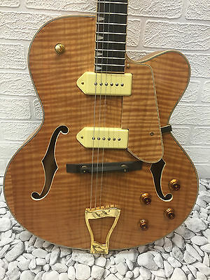 Grote Jazz Electric guitar Hollow Body With flame Maple top