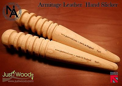 Twin Pack leather burnisher tool, hand slicker, leather worker craft tool edge