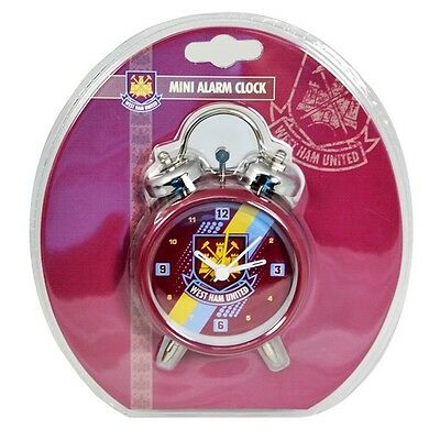 WHOLESALE 40 X West Ham Stripe Alarm Clocks - Individually Packaged for Resale