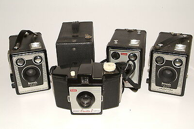 Collection of Kodak Brownie box cameras