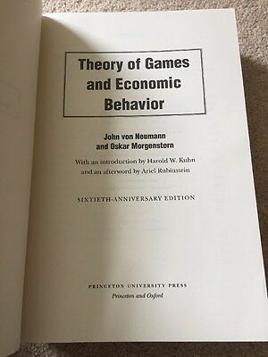 Theory of Games and Economic Behavior (Sixtieth Anniversary Edition)