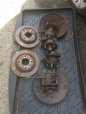 Ford Focus Mk1 2.0 Rear Hubs Calipers Disc And Pads Genuine Ford 2001 Conversion