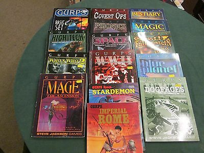 GURPS and Runequest Roleplaying Game RPG Multilist Various conditions