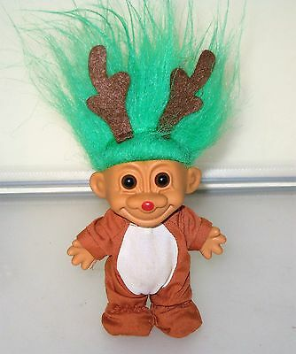 reindeer! russ troll doll, clean & fresh.