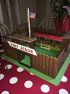 "Timpo Type Wooden Fort. ""Fort Sioux"" From     Tiger Toys,England."