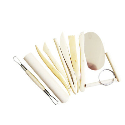 10pcs/Set Clay Carving Tool Set with Case for DIY Pottery Sculpture Modeling