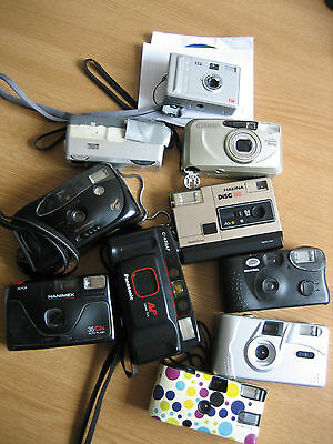 10 x Vintage Film Cameras Job Lot / Bundle - Mixed Lot - Panasonic - Henimex etc