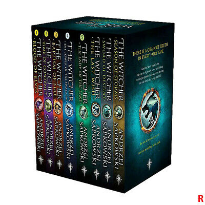 Witcher Series 6 Books Collection Set By Andrzej Sapkowski Blood of Elves,Last W