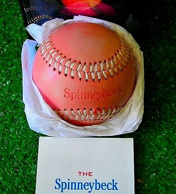 SPINNEYBECK BASEBALL Rose Pink Leather Cream Stitching New - Ships Fast
