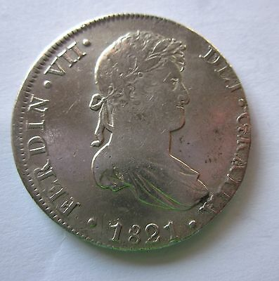 Fernando Vii - 8 Reales Lima- Year 1821 - Very Attractions
