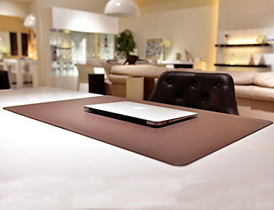 """Desk Mat Pads Laptop Keyboard and Mouse Pad Large Size 27.5"""" x 17.7"""" Brown"""