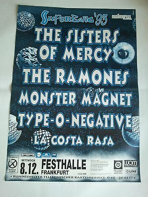 SISTERS OF MERCY - THE RAMONES    1993    orig. Concert  -  Poster  84 x 60 cm