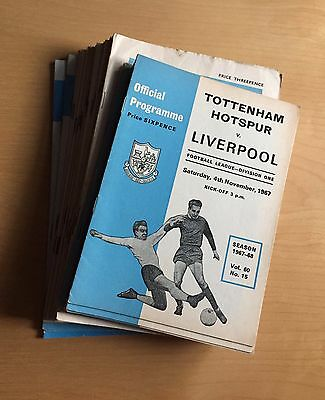 TOTTENHAM HOTSPUR 1961 - 1971 x 51 home programmes : listed, no duplicates