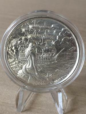 The Siren Mermaid Privateer 2 troy oz Silver Ultra High Relief Round