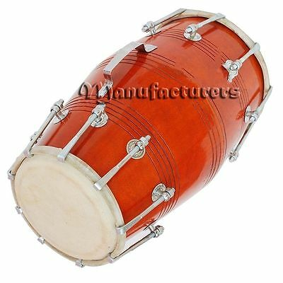638888969555-Dholak Drums 18 Bolt Tuned Made With Mango Wood Dholki