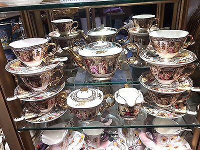 Tea Set Fine Bone China Elegant Design 6 People 21 Pieces