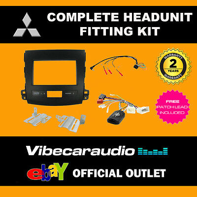 Connects2 CTKMT01 Mitsubishi Outlander 2007 - 10 Complete Double Din Fitting Kit