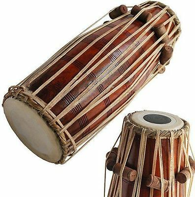 638888969616 Full Size Soundbrown Pakhawaj Drum Shesham Wood Professional