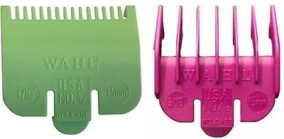 Wahl Clipper Guard Attachment Combs ½ 0.5 (HALF) + 1½ 1.5 (ONE & HALF)
