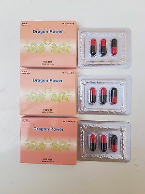 9  DRAGON POWER Capsules 3x Packs   BEST SEX MALE ENHANCEMENT  PILLS