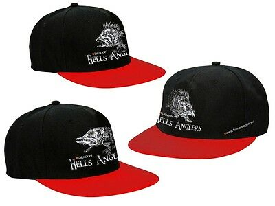 Dragon Hells Anglers Cap / black-red, 3 patterns / fitted cap, adjustable size
