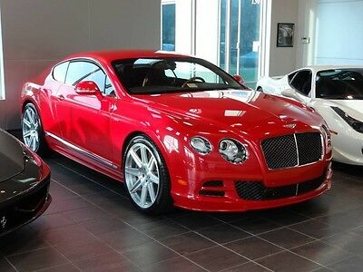2015 Bentley Continental GT  CONTINENTAL GT SPEED SPECIAL ORDER ST JAMES RED PEARL 286K MSRP LOADED