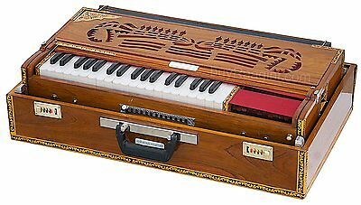 Harmonium Folding Teak Wood Harmonium Coupler Function 13 Scale Changer 4 Reed