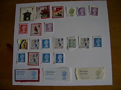 un franked GB 1st and 2nd class stamps