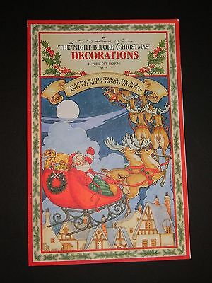 Vintage 1982 HALLMARK NIGHT BEFORE CHRISTMAS Press Out Book DECORATIONS