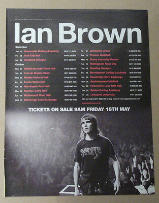 IAN BROWN - UK Tour dates - 2007 MUSIC ADVERT POSTER CLIPPING 31 x 25 cm