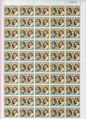 Pope John Paul II - Mint Sheet of 50 Stamps - Very Rare