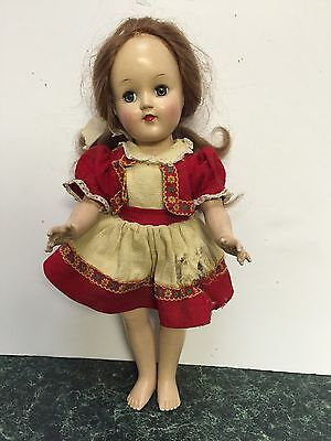 """Ideal Toni 1949 14"""" Light Brown Hair P-90 Doll in orig Heidi Outfit"""