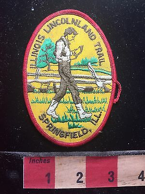 Springfield Illinois LINCOLNLAND TRAIL Patch - Abraham Lincoln Land 76Z5